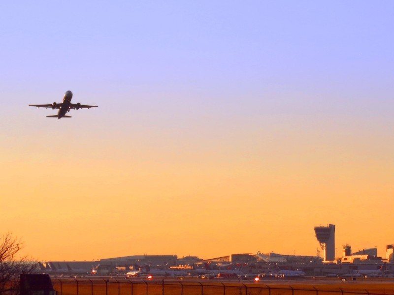 Sunset at Philadelphia International Airport