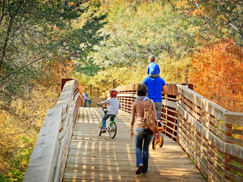 Swamp Rabbit Trail with family