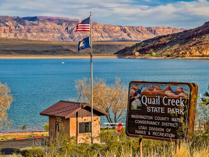 Quail Lake is just waiting for you to add your kayak.