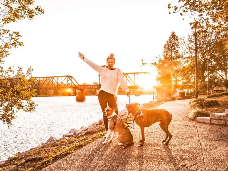 Augusta Riverwalk with dogs