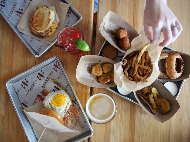 Delicious meal at Farmhaus Burger