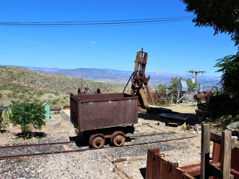 Jerome State Historic Park historic mining equipment