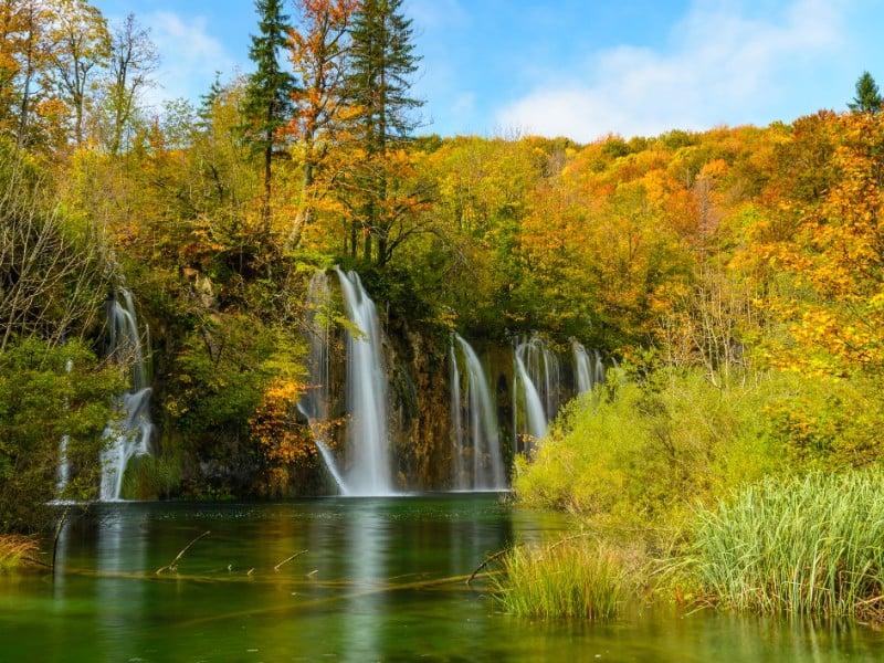 Plitvace Lakes National Park, Croatia in autumn