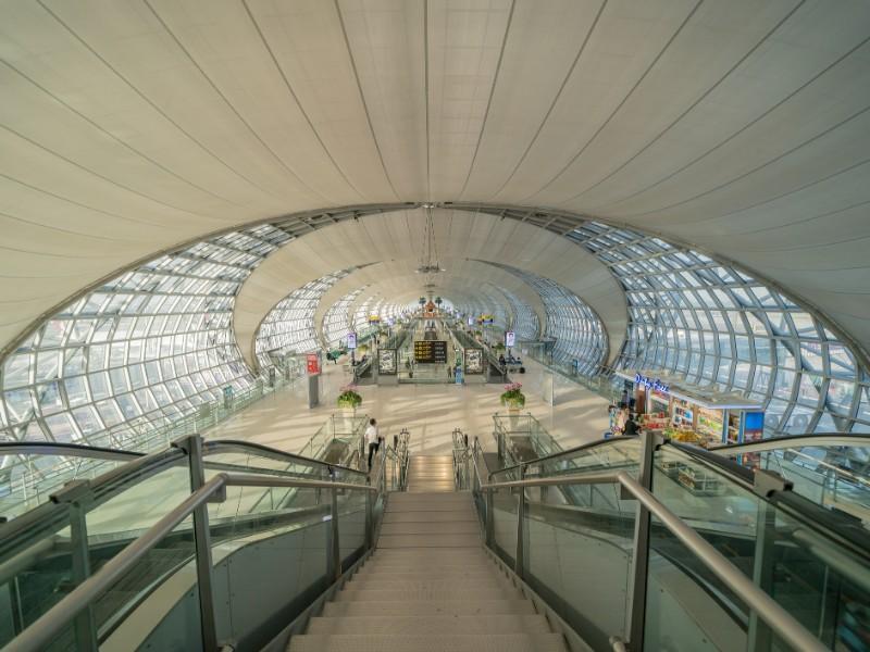 Interior design of Suvarnabhumi Airport