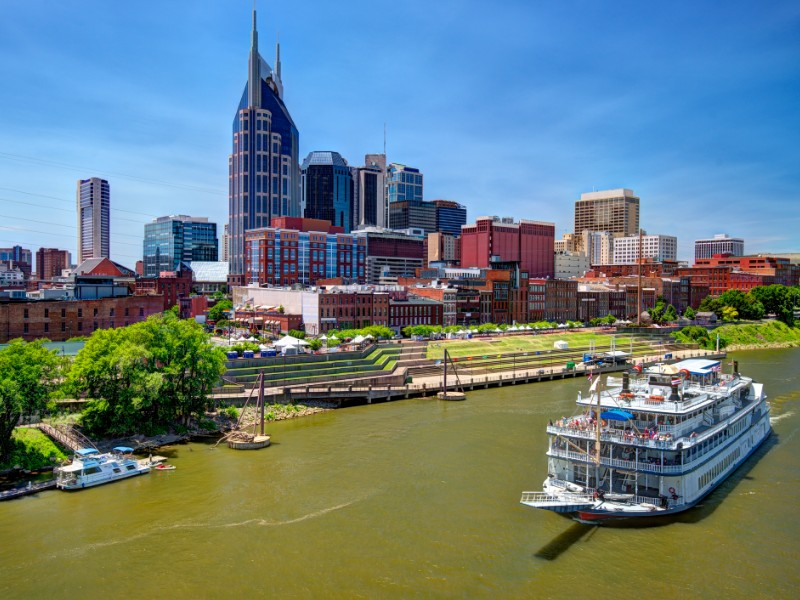 Skyline of downtown Nashville