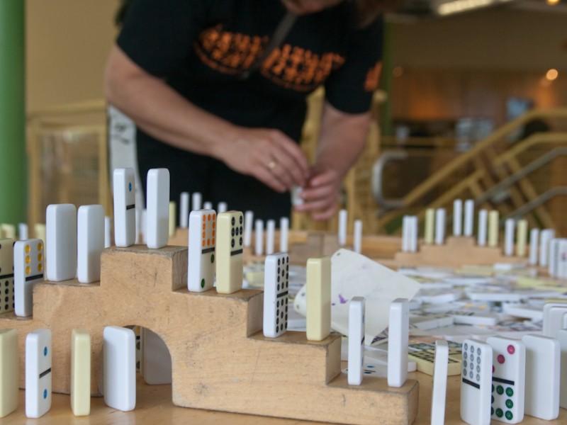 Dominos at Grand Rapids Children's Museum
