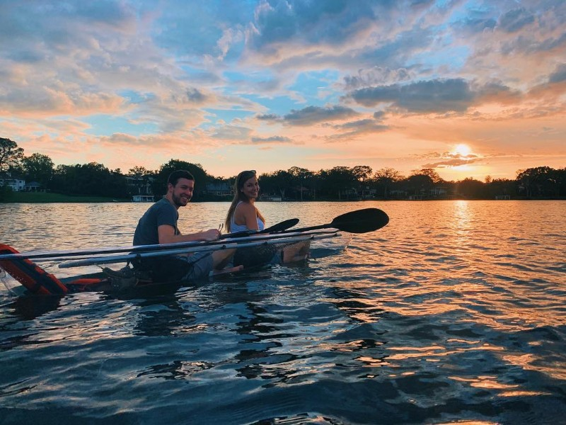 Sunset kayak tour with Get Up And Go Kayaking