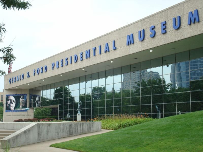 Outside President Ford's Museum
