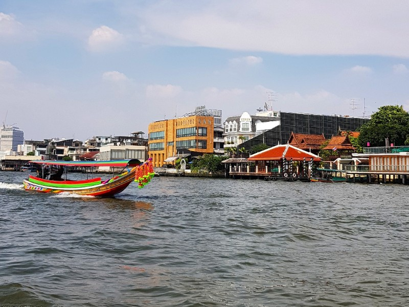 Scenic view of Riverside at Bangkok
