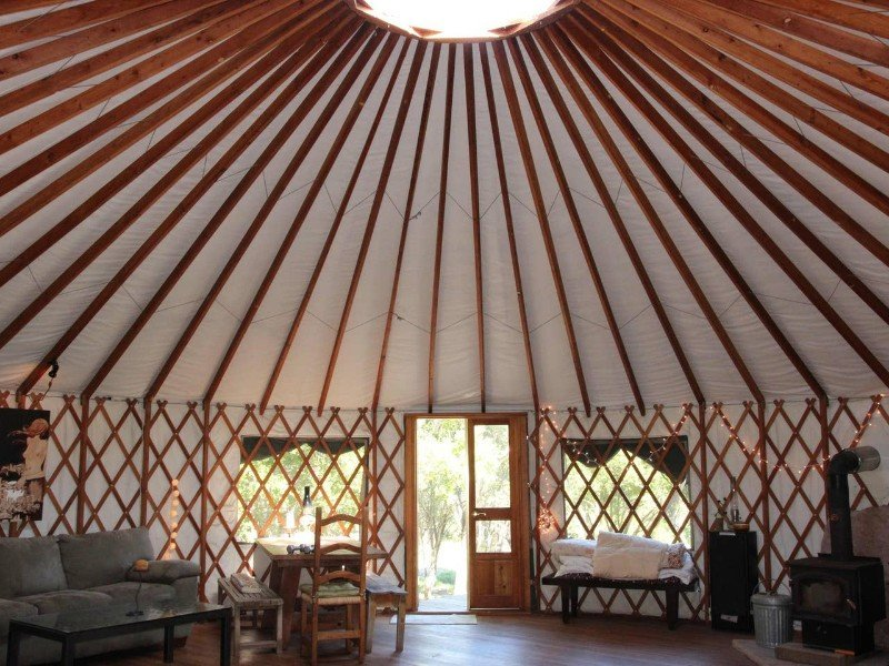 Inside the Stunning Exclusive Yurt