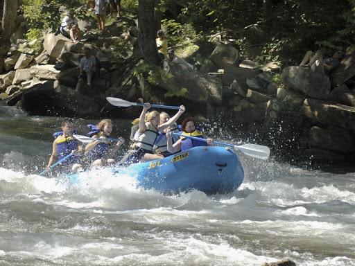 Whitewater rafting in on the Nantahala River