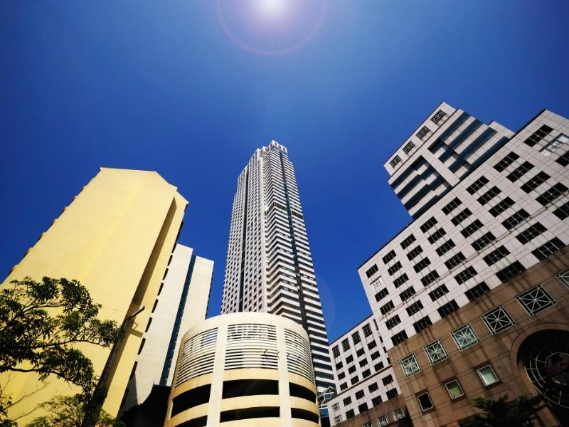Tall buildings on Silom Street