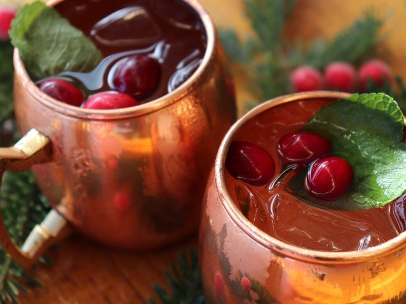 The Holly Jolly Mule is a holiday favorite at Capt. Hiram's Resort.