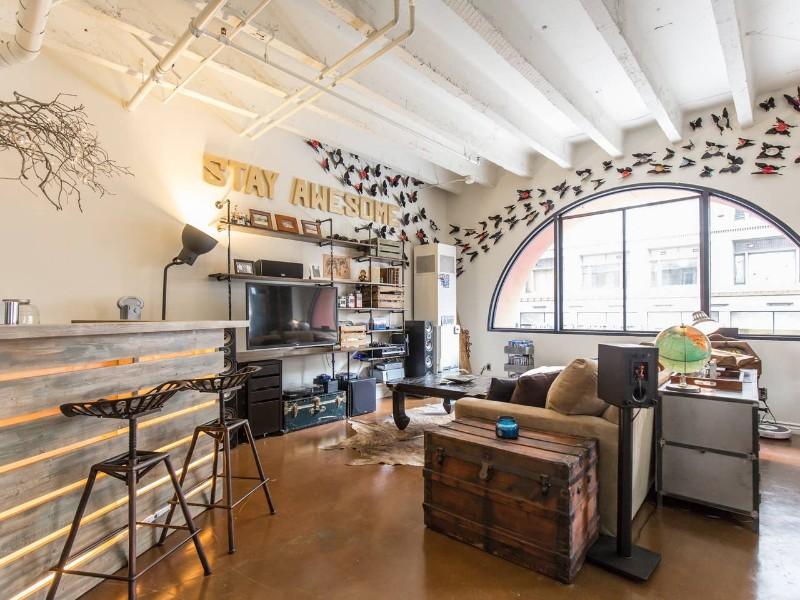 Inside the artist loft