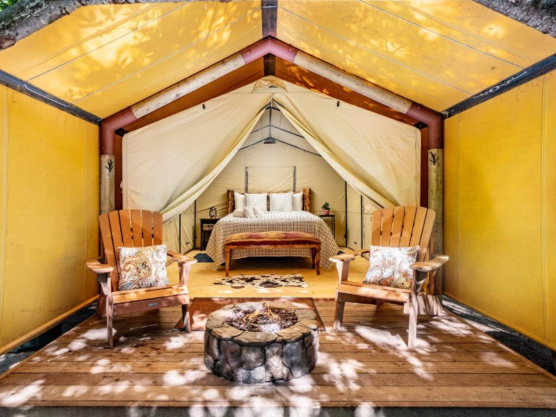 Luxury Tent at Saddle Mountain Ranch, Carmel by the Sea, CA Airbnb