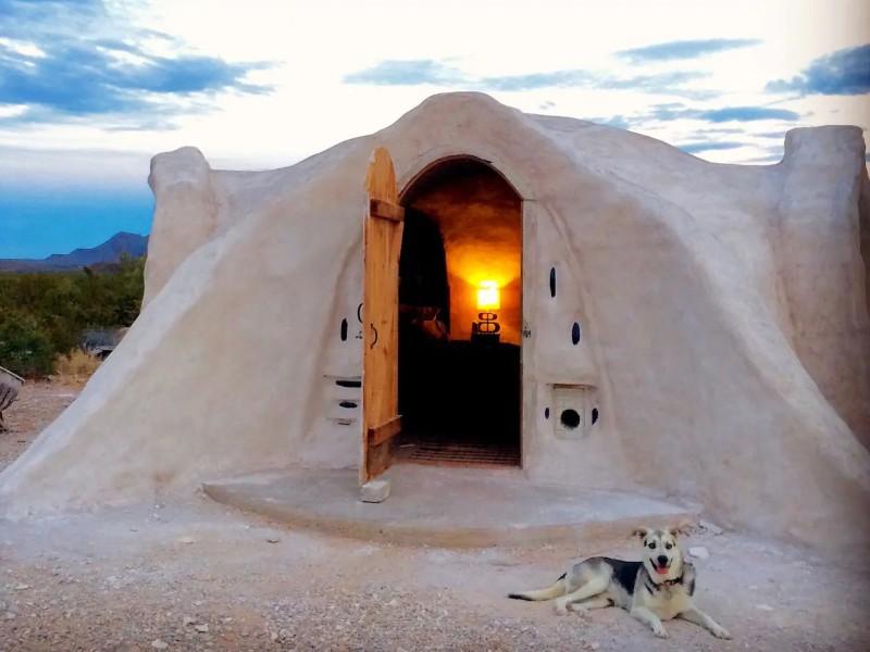 Off Grid Adobe Dome, Terlinga, Texas Airbnb