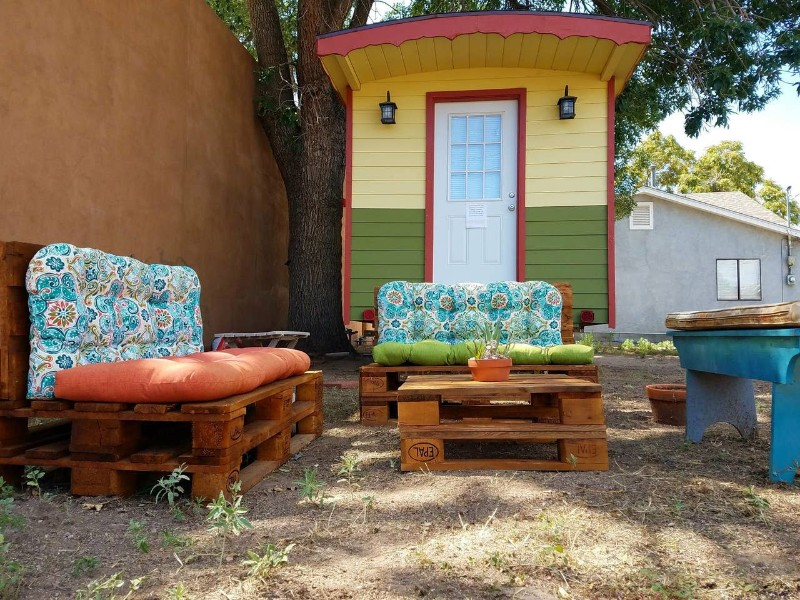 Seating at Tiny Zia House