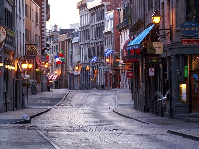 Street in Old Montreal, Canada