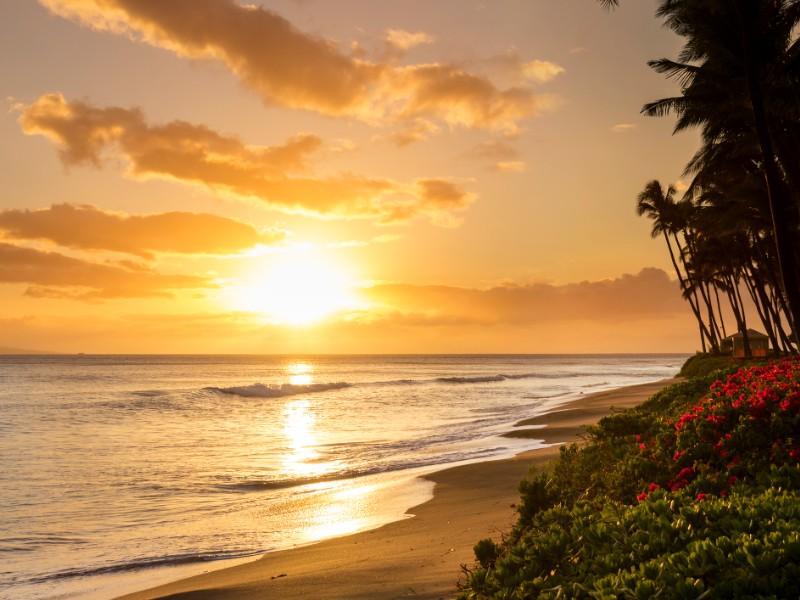 Sunset at Kaanapali Beach, Maui, Hawaii