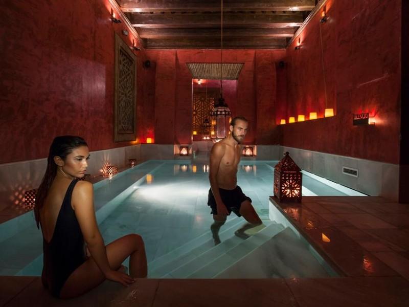 Couple at AIRE Ancient Baths Sevilla