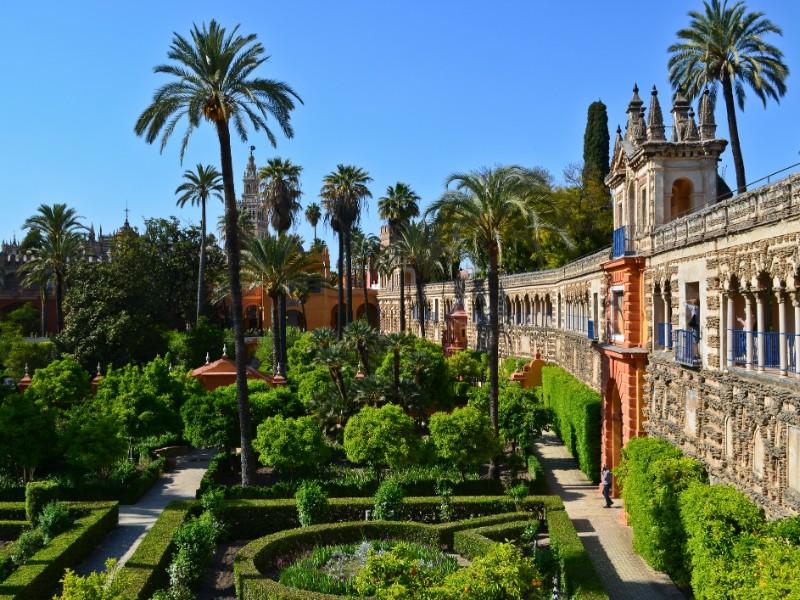 A view of Galeria de Grutescos in Alcazar of Seville