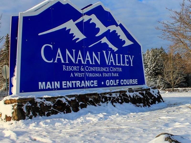 Sign at Canaan Valley Resort