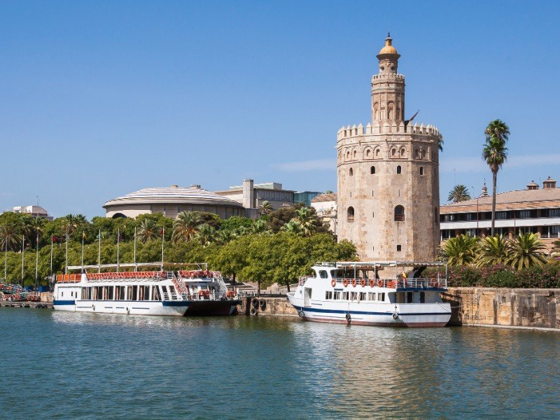 Torre del Oro seen from the Guadalquivir River in Seville