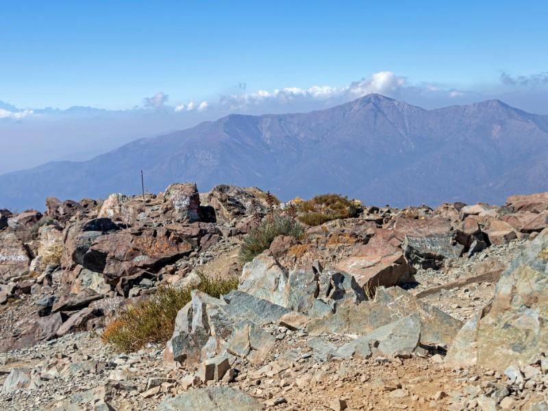 Scenery of the trek of La Campana National park in Chile