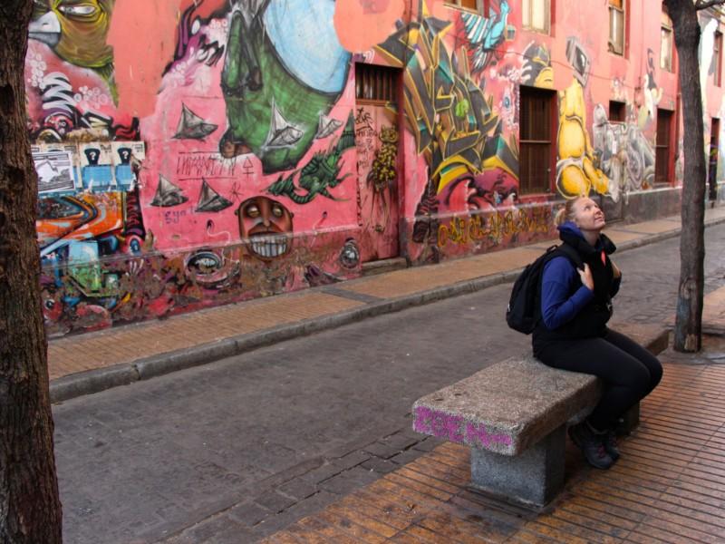 Admiring Valparaíso street art