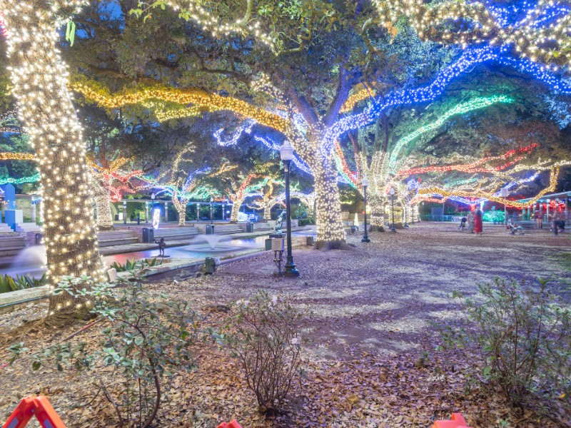 Christmas and New Year celebration lighting in Houston