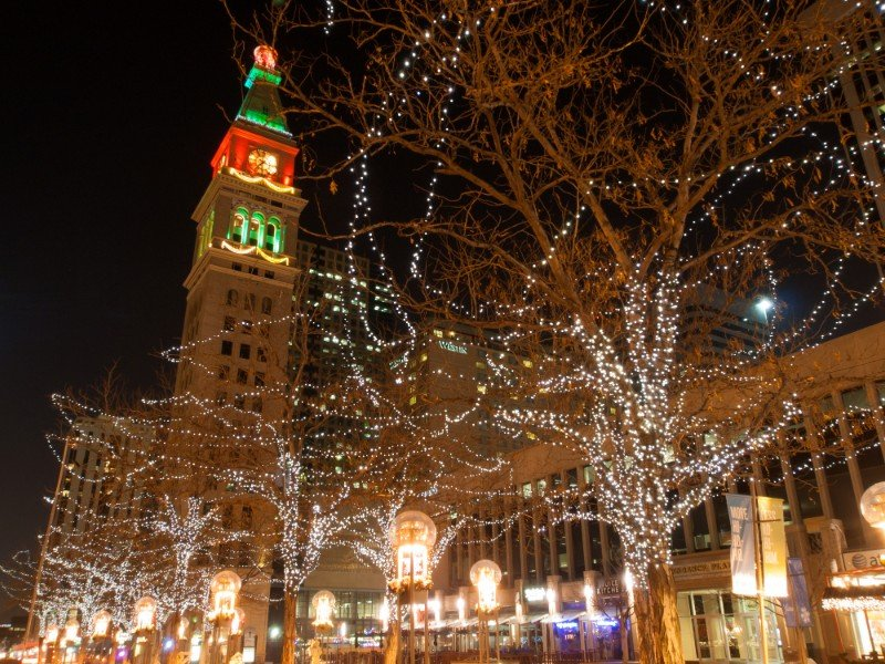 16th Street Mall, Denver, during the holidays