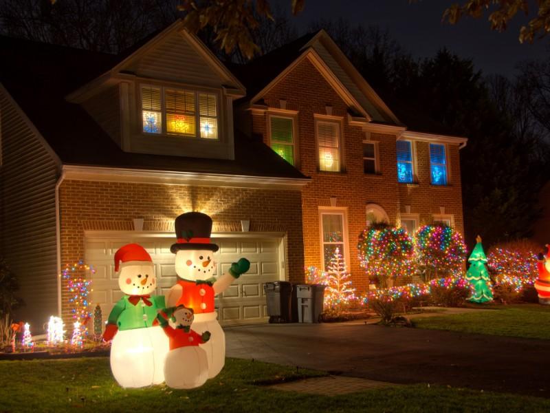 Neighborhood Christmas decorations