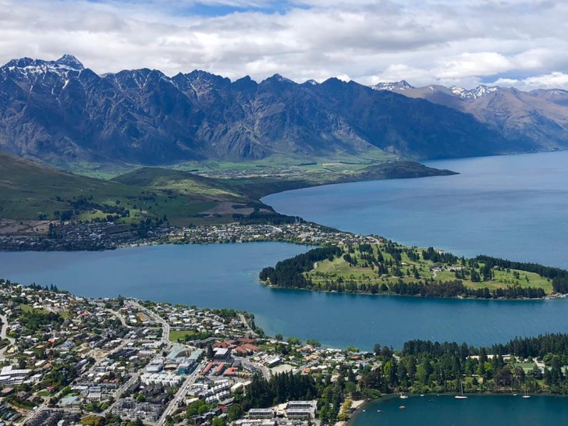 Above Queenstown, the Adventure Capital of the World, New Zealand