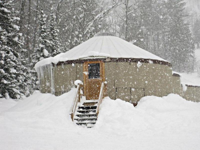 Yurt in the Snow