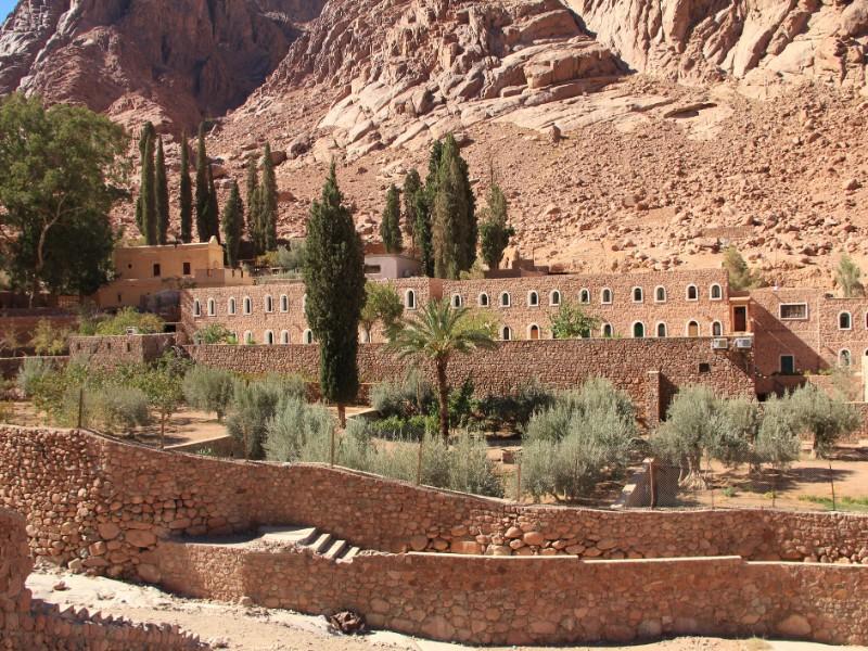 St. Catherine's Monastery view