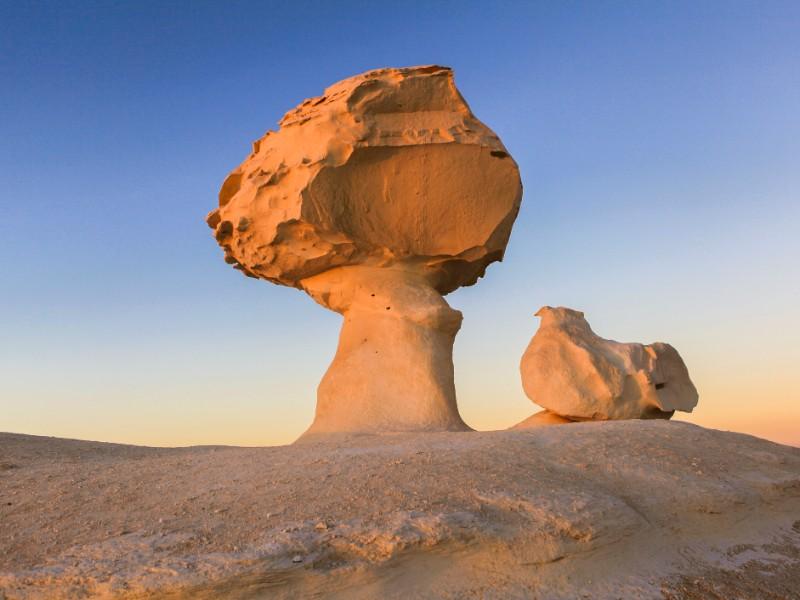 White Desert rock formation