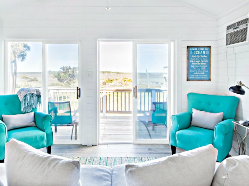 Salt and Sol. Ocean Breezes in a Chic Home.