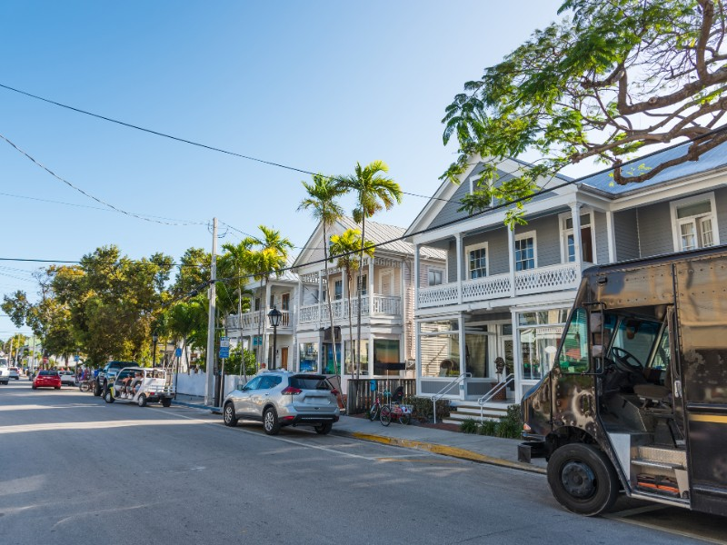 Beautiful Duval Street in Key West
