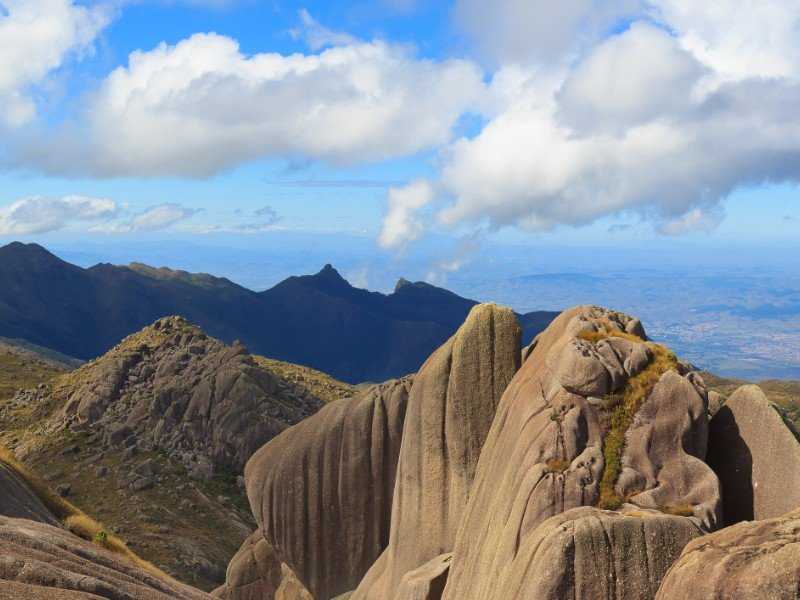 Peak mountain prateleiras in Itatiaia National Park, Brazil