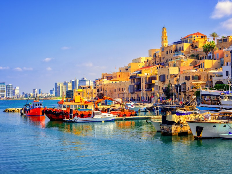 Old town and port of Jaffa.