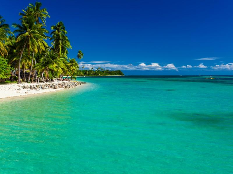 Tropical island in Fiji