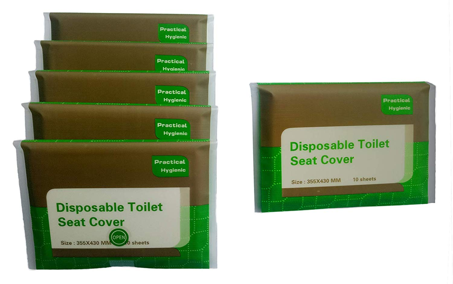 Toilet Seat Covers Disposable Travel portable 5 Packs