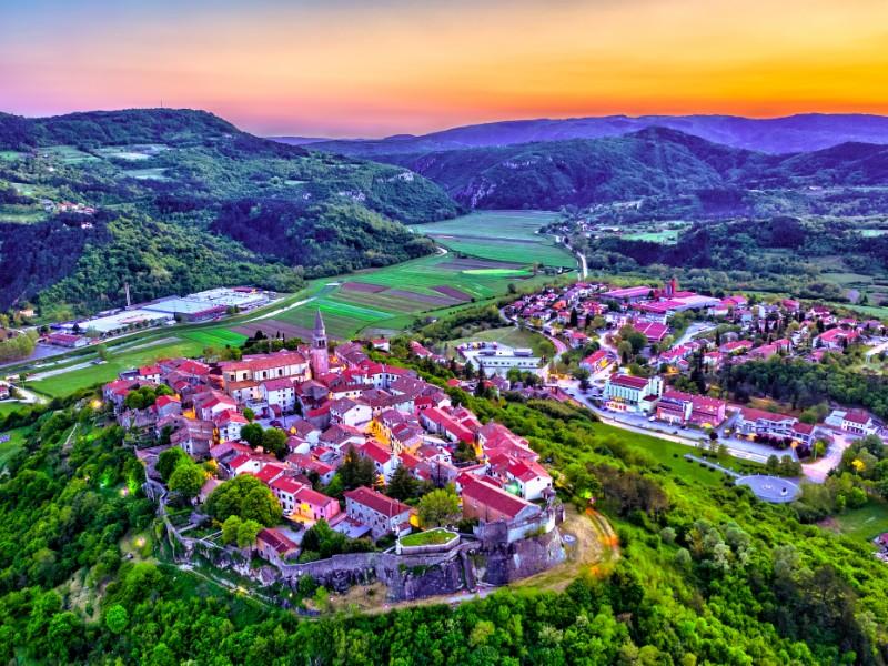 Buzet town in Istria