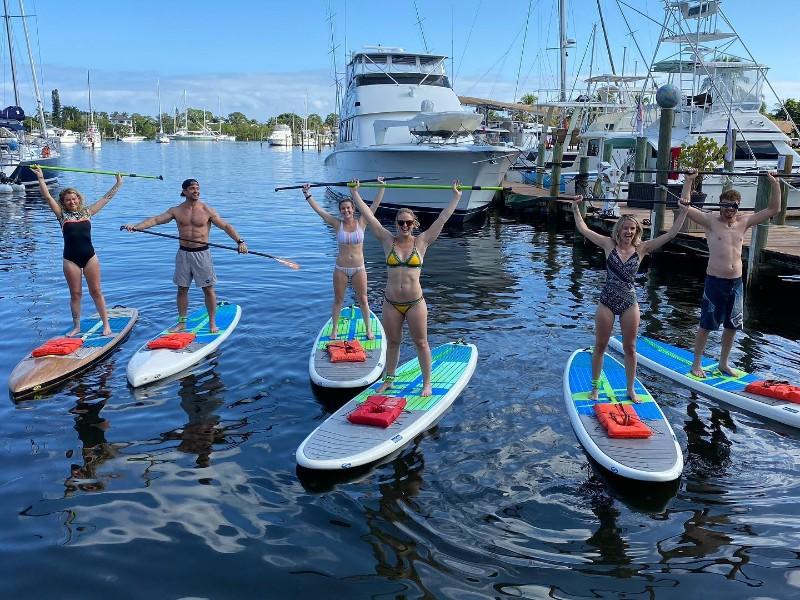 Paddleboarding with Liquid Aloha Paddle Co.