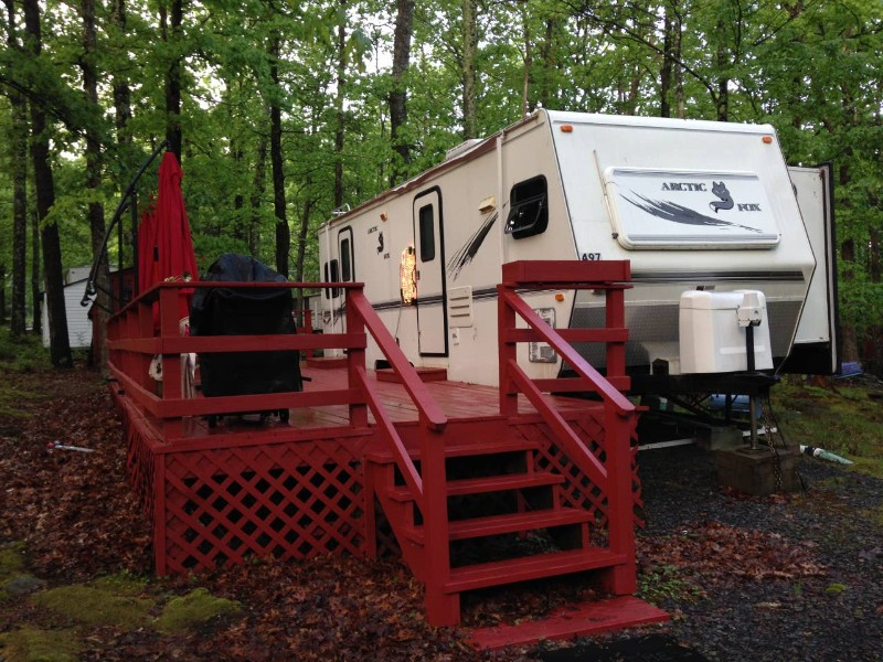 Trailer of RV Experience in Campground