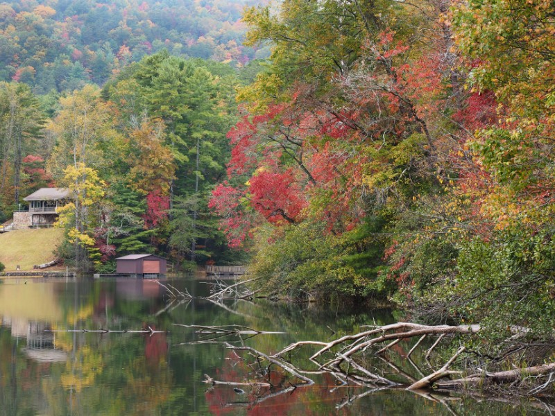 Panorama of the Lake at Unicoi State Park
