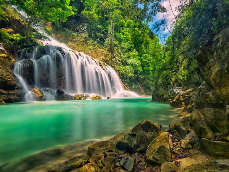 Lapopu Waterfall, Sumba Island, Indonesia.
