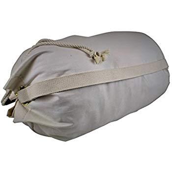 Eco Friendly Organic Cotton Canvas Duffle Printable Laundry Bag Shoulder Strap
