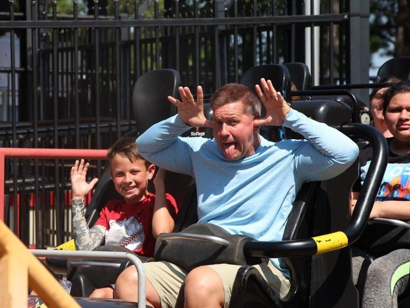 Kids at Six Flags