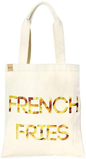 Auliné Collection Eco-Friendly 100% Cotton Canvas Graphic Print Handbag Tote Bag